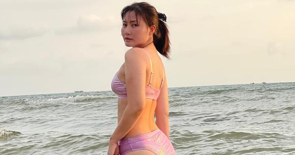 Ngọc Lan than mập vì cán mốc 60kg nhưng diện bikini vẫn 'bão like', còn được cả dàn sao vào khen tới tấp!