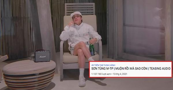 Teaser mới của Sơn Tùng chỉ lọp top 9 trending, thành tích kém xa loạt sản phẩm trước đó?
