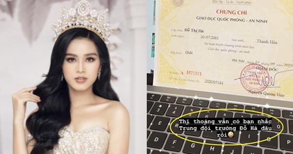 Hoa hậu Đỗ Hà khoe chứng chỉ Quốc phòng, tiết lộ chức vụ cực quan trọng trong lớp