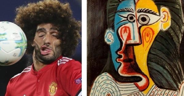 Danh thủ sân cỏ ''hiện thân'' trong các bức họa nổi tiếng: Gương mặt ''xộc xệch'' của sao MU chiếm spotlight