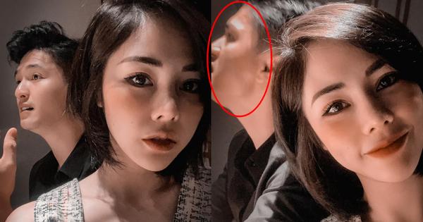 """Vợ sắp cưới bỏ mặc Huỳnh Anh khi đang mải selfie, nam diễn viên bị """"chộp"""" đúng lúc đang... quạo"""