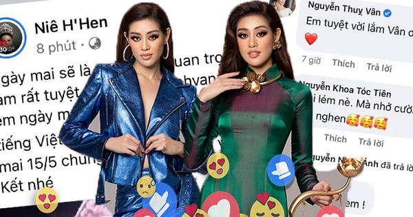 Cả Vbiz hướng về Khánh Vân trong đêm Bán kết Miss Universe: H'Hen Niê - Tóc Tiên động viên, dàn sao ráo riết kêu gọi vote