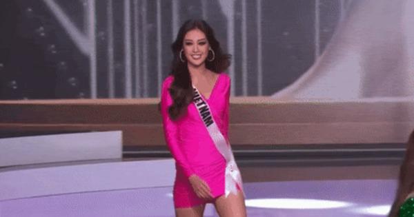 Mặc kệ người ta nói, HH Khánh Vân vẫn diện chiếc đầm 'quả thanh long' từng gây tranh cãi để mở màn Bán kết Miss Universe