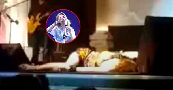 Clip hiếm: Mỹ Tâm ngất xỉu trên sân khấu sau khi nghe tin đạo diễn Huỳnh Phúc Điền qua đời