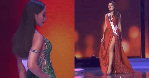 1001 sự cố đêm Bán kết Miss Universe: Người hết lộ miếng độn ngực đến lòi dây áo, thí sinh vấp ngã liên hoàn và còn bỏ thi