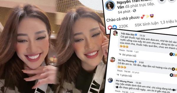 Khánh Vân livestream 15 phút mà đạt kỷ lục triệu view, NSND Hồng Vân và dàn sao Vbiz rôm rả vào động viên gây nổ MXH