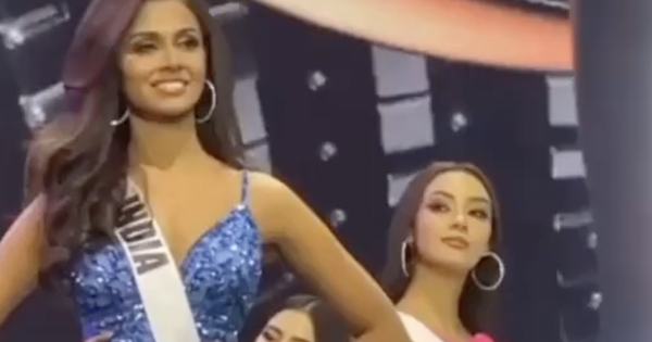 Lộ clip đối thủ số 1 của Khánh Vân ở Miss Universe có ánh mắt 'lườm như dao cau' cứa vào thí sinh khác ngay trên sân khấu?
