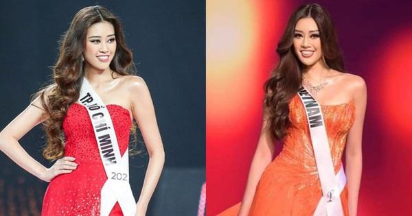 Sự trùng hợp bất ngờ giữa đầm dạ hội của Khánh Vân ở Miss Universe Việt và Thế giới, 'điềm báo' đăng quang là đây?