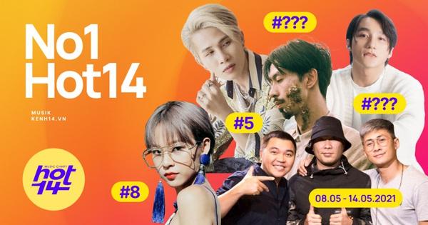 Thứ hạng của Jack và Sơn Tùng M-TP ra sao trước sức nóng của Đen Vâu và MTV Band trong BXH HOT14 tuần này?