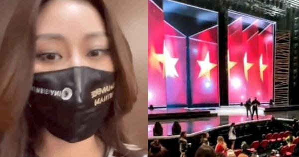 Tổng duyệt Chung kết Miss Universe: Khánh Vân tràn đầy năng lượng tập đồng diễn, tự hào hình ảnh đặc biệt trên sân khấu khủng