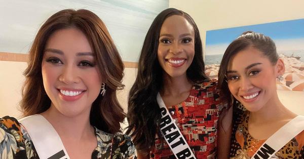 Khánh Vân quẩy bung nóc cùng hội chị em Hoa hậu trước khi chia tay nhau ở Miss Universe
