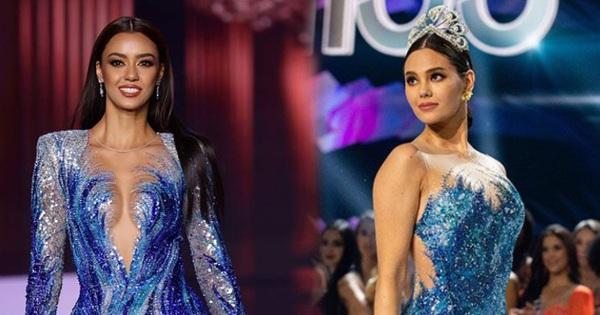Fan quốc tế 'chỉ điểm' Hoa hậu Thái Lan đạo nhái Miss Universe 2018, từ cái đầm đến kiểu catwalk không chừa miếng nào?