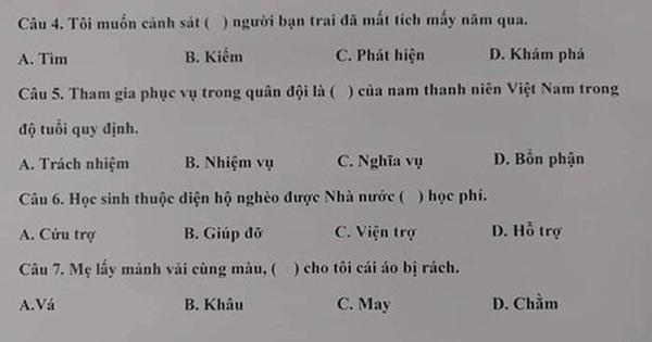 Thách bạn làm đúng 7 câu trong đề thi năng lực tiếng Việt tại Nhật Bản
