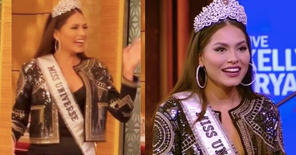 Lộ diện chỉ sau 3 ngày đăng quang, tân Miss Universe đã khiến dân tình ngã ngửa vì bụng bèo nhèo, có 'em mỡ' khác xa lúc thi