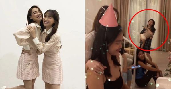 Hòa Minzy đang mải hát tặng sinh nhật Nhã Phương thì hốt hoảng khi Trường Giang nhắc... 'Bo khóc'