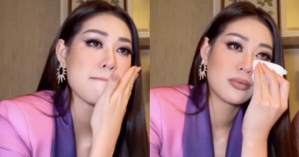 Vừa tới Mỹ thi Miss Universe, Khánh Vân đã bị chỉ trích vì bật khóc nức nở trên livestream và phải lên tiếng giải thích ngay