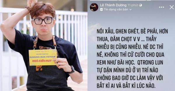 """Ngô Kiến Huy bỗng đăng status """"đá xéo"""" ai đó ghen ghét, bè phái giữa lúc dàn sao Running Man Việt mùa 2 gây tranh cãi?"""