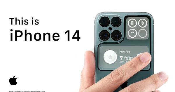 iPhone 13 chưa ra mắt, iPhone 14 đã xuất hiện concept cực dị