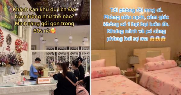 Cô gái đăng clip review khách sạn Đại Nam 'sạch không một hạt bụi', dân mạng đồng loạt trầm trồ: Hết dịch đảm bảo 'cháy' phòng cho xem!