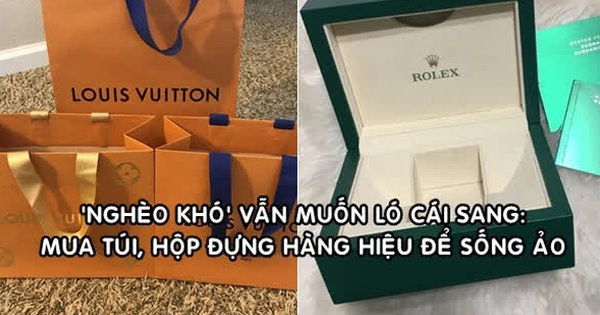 Góc dành cho người 'nghèo' nhưng muốn khoe 'giàu': Có cả một thị trường sôi động bán túi, hộp đựng hàng hiệu, vỏ chai nước hoa... phục vụ sống ảo