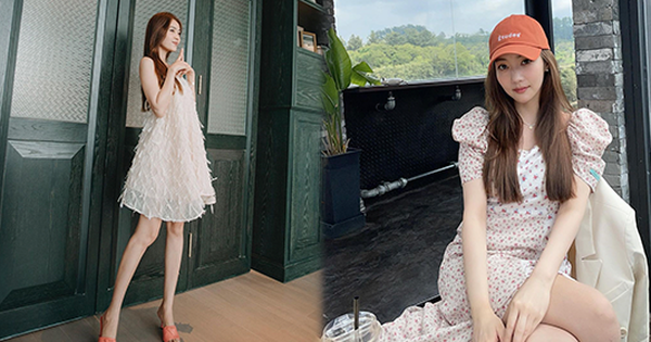 Cùng diện váy 'bánh bèo', sao Việt và sao Hàn chỉ cần thêm 1 thứ phụ kiện là ra ngay style 'khác bọt' hoàn toàn