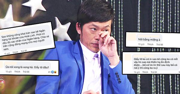 Khán giả đồng loạt yêu cầu NS Hoài Linh làm 1 việc sau khi ekip giải ngân xong 15,2 tỷ đồng quỹ cứu trợ miền Trung