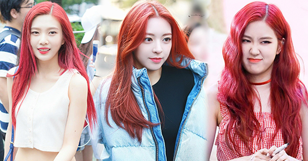 Idol Hàn nhuộm tóc đỏ đẹp nức nở nhưng có một sự cố khiến fan hú hồn!