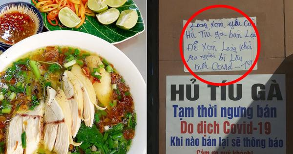 Ở Sài Gòn có 1 cô bán hủ tiếu sợ 'con cô vít' nên treo biển nghỉ khoẻ, nguyên 1 xóm 'lao đao' viết banner đòi bán lại!