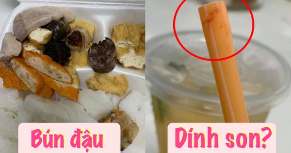 Xôn xao 1 hàng bún đậu nổi tiếng ở Hà Nội bị khách tố xài lại ống hút, 'tang vật' còn nguyên mép son của khách cũ?