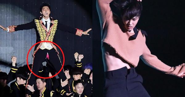 Những sự cố trang phục 'nguy hiểm': EXO đang thay đồ thì 'toang hoác' trên sân khấu, vẫn không bằng Yunho (DBSK) lộ quần lót hồng