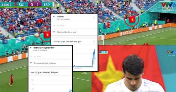 Sau trận đấu Tây Ban Nha - Thụy Sĩ, từ khoá 'Việt Nam' cùng 'cờ đỏ sao vàng' được cộng đồng quốc tế tìm kiếm chóng mặt trên Google