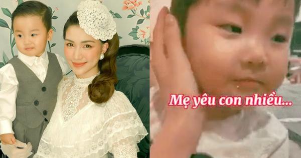 Hoà Minzy viết tâm thư dài lo lắng về chuyện công khai con trai, clip bé Bo nhận lỗi và nói thương mẹ gây xúc động mạnh