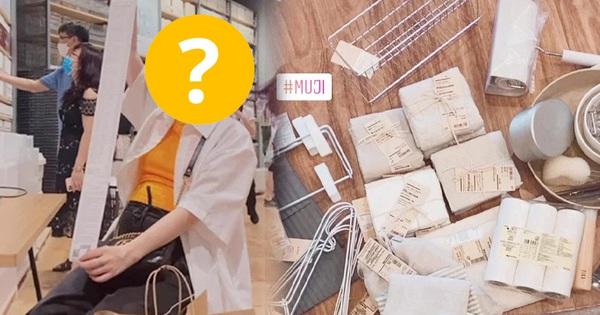 Lộ diện hot mom mua 'ác' nhất MUJI Hà Nội dịp khai trương: Bị chồng 'hỏi tội' vì bill hơn 50 món dài như tờ sớ