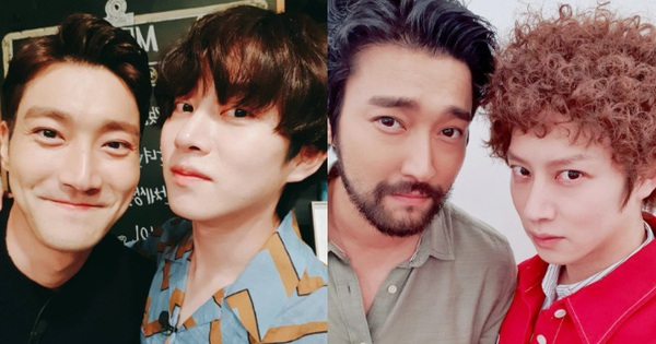 Khóc thét visual 2 nam thần Suju: Siwon râu ria xồm xoàm 'dừ' như ông chú, Heechul tiên tử để đầu xù bông bà thím