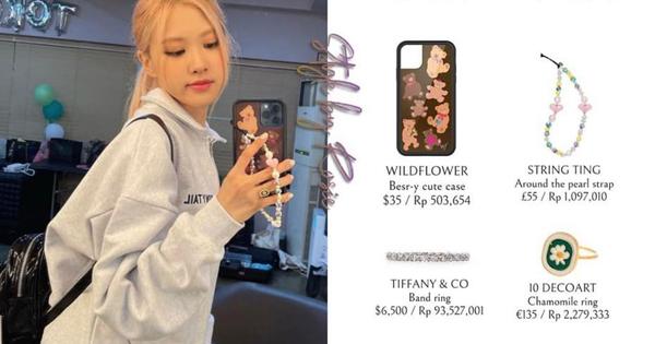 Rosé (BLACKPINK) lại tậu ốp iPhone mới, giá cũng đắt đỏ không kém Jennie!