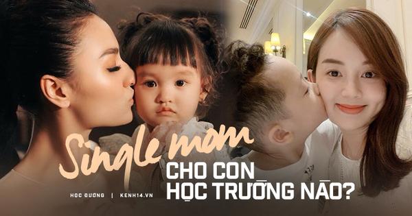Dàn single mom của showbiz Việt chi tiền khủng nuôi con: Toàn học trường xịn, học phí trăm triệu/năm xem mà choáng