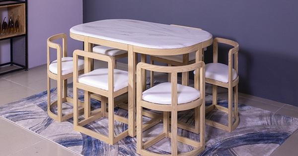 Bộ bàn ghế xếp gọn 'ẩn hiện' đang gây sốt: Hóa ra ở Việt Nam cũng có bán, rẻ nhất cũng 12 triệu