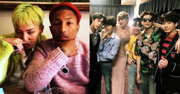 Khung hình 'gây nổ' của sao Hàn và quốc tế: BTS - G-Dragon toàn bạn khủng, ghen tị vì Justin hôn Dara, Loki thân mật với Tiffany