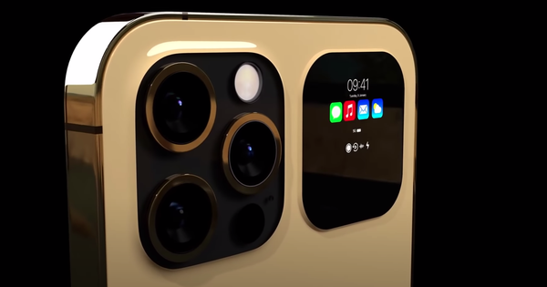 Cận ngày ra mắt, iPhone 13 Pro lộ thêm concept với hai màn hình cực dị