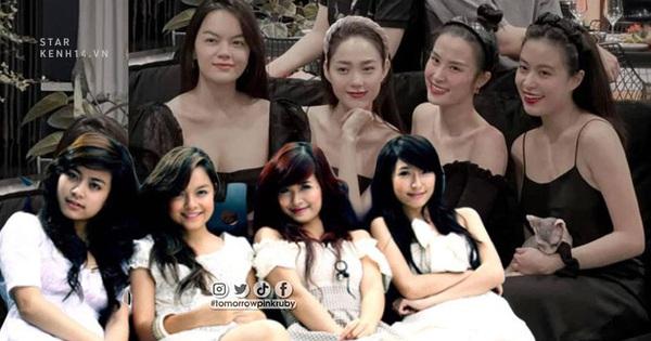 Sau hơn 10 năm, 4 chị đẹp Vbiz này ai cũng thăng hạng nhan sắc đáng nể, khác biệt lớn nhất là Minh Hằng và Hoàng Thuỳ Linh
