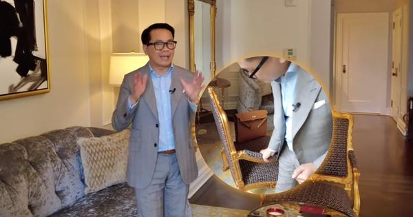 Thái Công chê cái ghế, cái đèn và nội thất khách sạn đắt đỏ ở New York không xịn như villa mình thiết kế