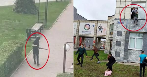 Xả súng đẫm máu tại đại học Nga khiến 8 người chết, sinh viên hoảng loạn nhảy lầu bỏ chạy