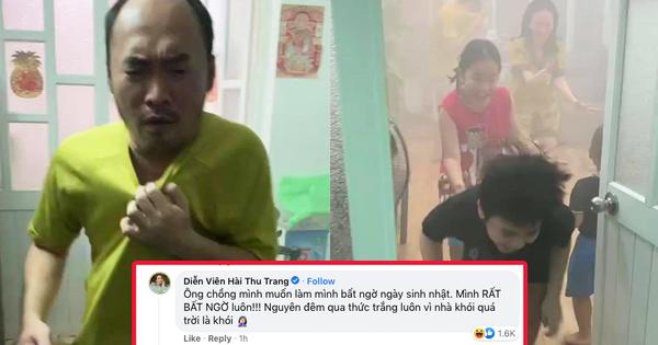 Tiến Luật xin lỗi Thu Trang vì suýt làm cháy nhà, loạt ảnh 'chạy khói' trông rất thương nhưng biết lí do thì không nhịn được cười