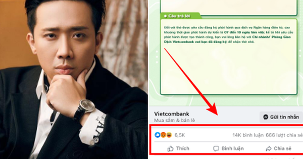 Fanpage Vietcombank bất ngờ bị 'tấn công' sau khi Trấn Thành công khai 1000 tờ sao kê từ thiện