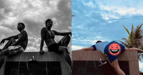 Karik chụp ảnh cho Jun Phạm, Liên Bỉnh Phát body chuẩn tạc tượng, nhìn lại ảnh mình 'thấy mà tức'