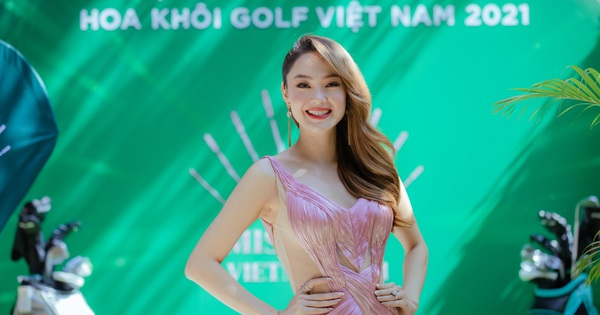 """Minh Hằng ngồi """"ghế nóng"""" cuộc thi Hoa Khôi Golf Việt Nam 2021"""