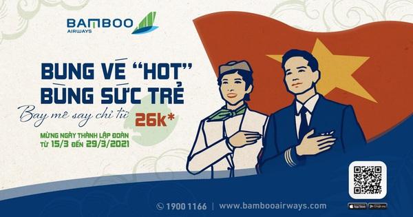 Thêm ưu đãi vé máy bay ''khủng'' mừng tháng Thanh niên từ Bamboo Airways