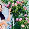 """Khí chất """"hoa hậu tương lai"""": Lọ Lem con gái MC Quyền Linh đứng trong vườn nhà chụp ảnh thôi mà cứ như photoshoot chuyên nghiệp"""