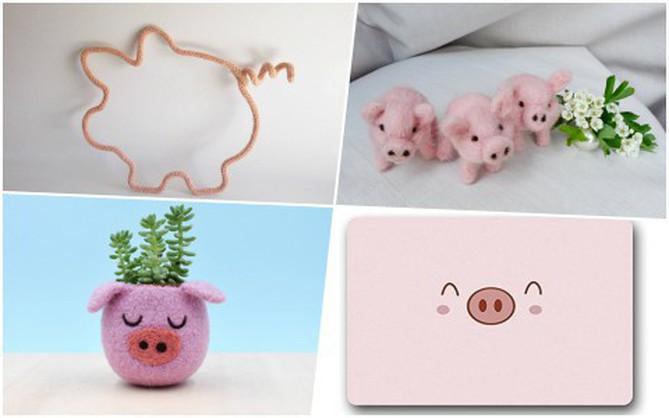 Những món đồ trang trí hình chú lợn xinh xắn đốn tim bất kỳ ai nhìn thấy