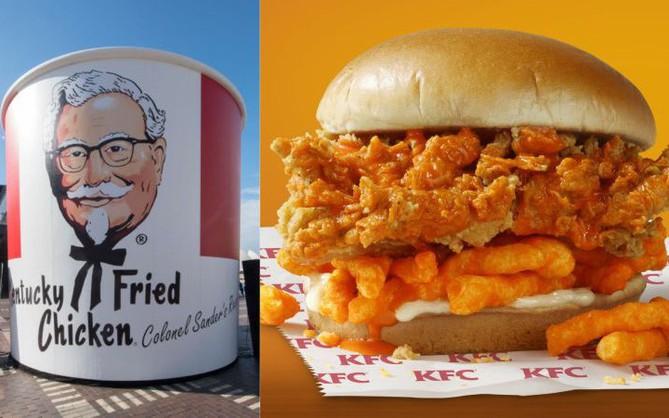 KFC ra mắt loại sandwich mới kẹp toàn gà rán và bim bim Cheetos